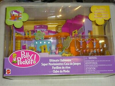 2000 Polly Pocket Magic Movin Ultimate Clubhouse Plaset Nrfb