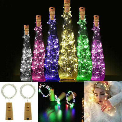 6x 20 LED Cork Wine Bottle Stopper Copper Wire String Lights Fairy Lamps Party
