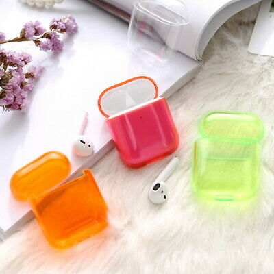 Earphone Protective Soft Clear Silicone PC For Apple Airpods Charging Case Cover