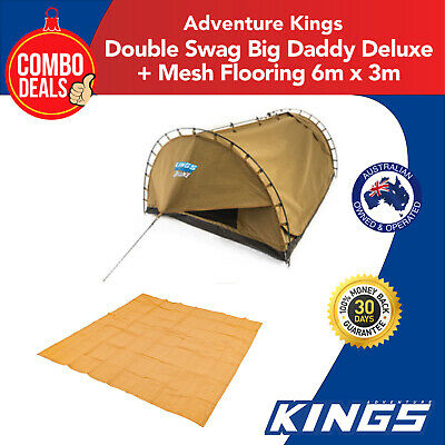 Kings Double Swag Big Daddy Deluxe + Adventure Kings - Mesh Flooring 6m x 3m