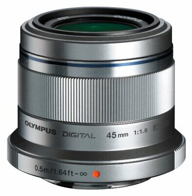 OLYMPUS single-focus lens M.ZUIKO DIGITAL 45mm F1.8 Silver 69769 JAPAN