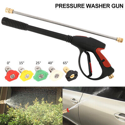 4000 PSI Power High Pressure Water Car Washer Spray Gun Lance Hose Nozzle & Tips
