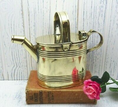 Antique small brass watering can, John Marston 1900, size 3, Victorian Edwardian