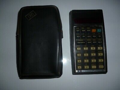 *** WORKING HEWLETT PACKARD HP33C VINTAGE (1978) CALCULATOR and POUCH ***