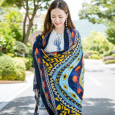 Women Scarf Long Wrap Ladies Shawl Colorful Boho Style Comfort Scarves Stole BS