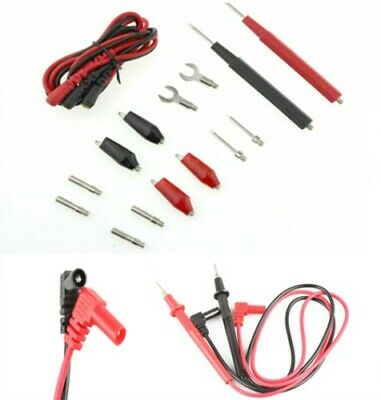 Universal Digital Multimeter Test Leads Kit Set Probes Volt Meter Cable Wire Pin
