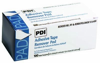 Adhesive Tape Remover Pads by PDI - Case of 1000 (100/bx, 10 bx/cs)