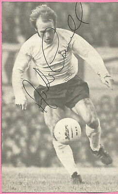 Football Autograph Archie Gemmill Derby County SIgned Newspaper Photograph F1155