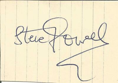 Football Autograph Steve Powell Derby County Signed Paper Piece F1159