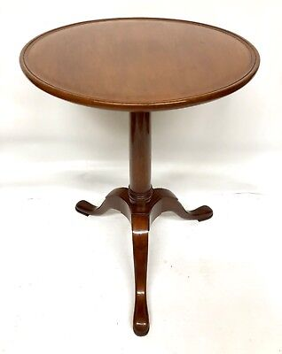 Antique Georgian Style Solid Mahogany Wine Occasional Tripod Table / Lamp Stand