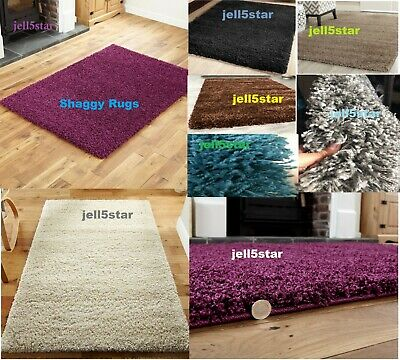 Soft Large X Small Thick Premium Quality Shaggy Rug Plain 5Cm Pile Bedroom Rugs