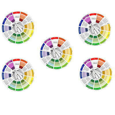 5pcs Colors Pigment Wheel Chart Mixing Guide For Tattoo Makeup Permanent