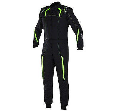 Alpinestars KMX-5 Karting Suit für Kart Racing & Autograss, Cik Level 2, Schwarz