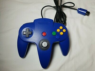 Nintendo 64 N64 Controller Blue OEM Tight Stick Authentic! Collectible Condition