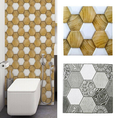Household Hexagon wall sticker DIY Office 3D PVC Tile Background Decoration