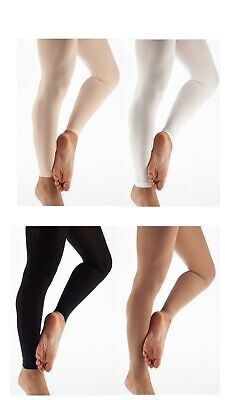 Girls Ladies Footless Tights Super Soft Microfiber Matte Opaque Dance Tight