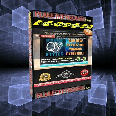 Yamaha QY Styles QY-100 Style Library Vol 06-300 NEW Styles on 1x SMedia Card