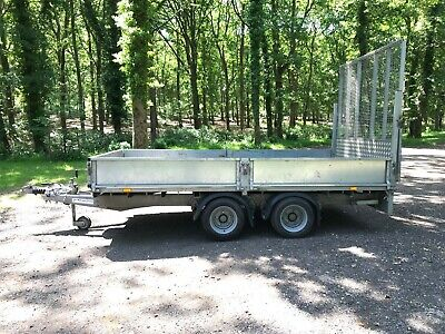 """IFOR WILLIAMS TRAILER. LM126G LOW LOADING.3500KGS GVW.12'x6'6"""". WITH SPARE WHEEL"""