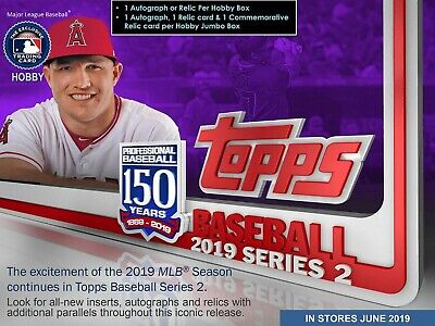 2019 Topps Series 2 Baseball Factory-Sealed Hobby Box w/ 1 Silver Pack