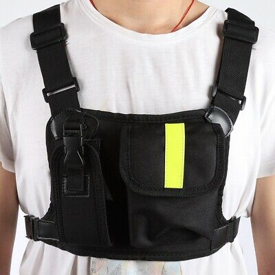 Chest Pack Bag Harness Pouch Holster for Baofeng UV-5R/82/9R Walkie Talkie Radio