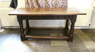 "17th century style oak refectory table - 5'6"" long. Early 20th century oak table"