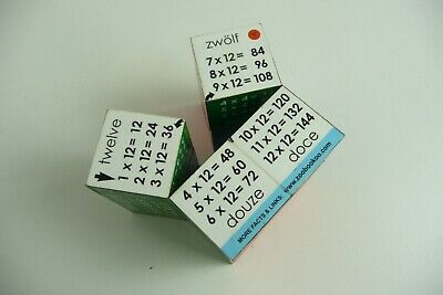 ZooBooKoo 1-12 Times Tables Cube Book Multiplication Fiddle Maths Toy