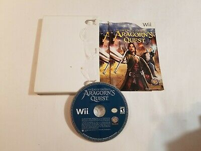 Lord of the Rings: Aragorn's Quest (Nintendo Wii, 2010) game only + manual