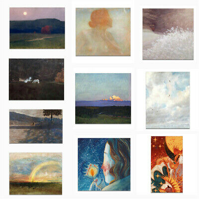 Nordic Abstract Scenery Landscape Canvas Poster Picture Wall Home Art Decor Gift