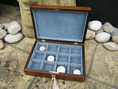 Lovely 19C Rosewood Inlaid Antique Jewellery/Pocket Watch Box - Fab Interior