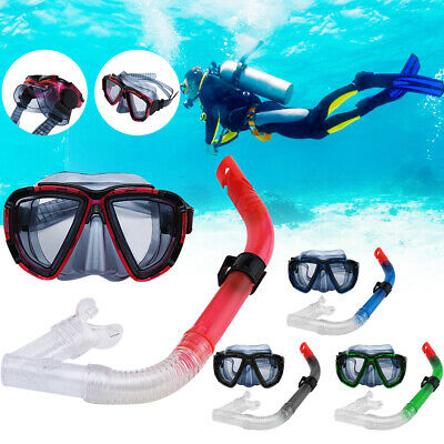 f7bb96907d9 Adult Dry Snorkel Mask Diving Scuba Snorkeling Swimming Goggles Pipe Set  Summer