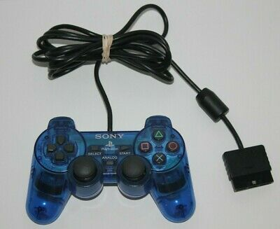 Official Sony Playstation 2 PS2 Dualshock Controller Authentic OEM BLUE
