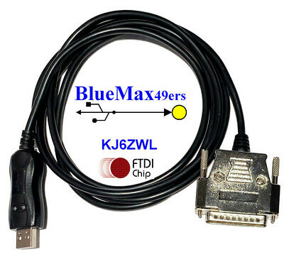 BlueMax49ers USB Serial RS-232C Straight-through cable DB-25 Male ST-25M