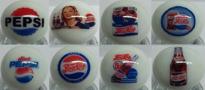 Cop Salt and Pepper Shakers Charming Set Of 2 Pepsi Cola Square