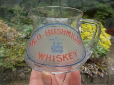 Rare Old Bushmills Whiskey Advertising Glass Water Jug In Lovely Condition
