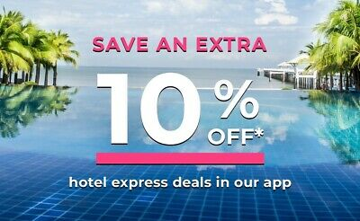 Priceline.com 10% off Coupon Express Deal Hotels in the APP Book by 06/15/2019