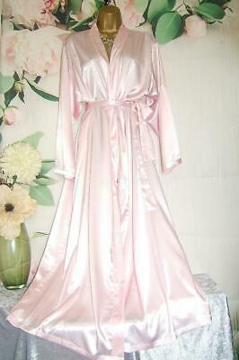 Vtg Glossy Liquid Satin Robe~Negligee Ultra Silky Slippery Gown Slip FEMME XL