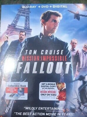 Mission: Impossible - Fallout  (Blu Ray + DVD + Digital HD) 2018 w/ SLIP COVER,