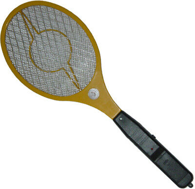 Electric Fly Swatter Racket Bat Wasp Insects Handheld Battery Operated Zapper