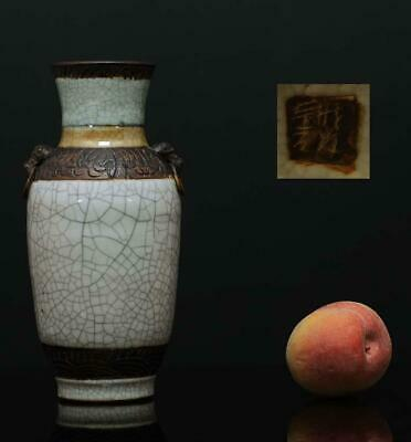 A BEAUTIFUL antique CHINESE PORCELAIN G CRACKLE GLAZE VASE 19TH CENTURY