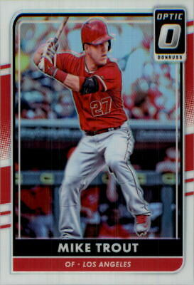 2017 Panini Donruss Optic #107.2 Mike Trout Variation Los Angeles Angels MVP