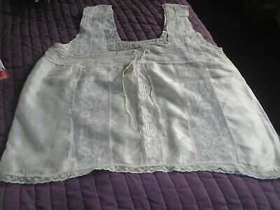 Vintage silk and cotton lace hand made cami top