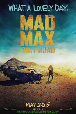 MAD MAX : FURY ROAD MOVIE POSTER 1st Advance DS 27x40 TOM HARDY George Miller