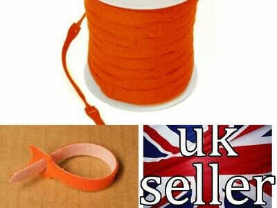 VELCRO CABLE TIES  RE-USABLE ONE WRAP 20mm x 200mm ORANGE (CABLE  MANAGEMENT )