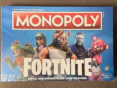 MONOPOLY Fortnite Edition Board Game Original New Factory Sealed