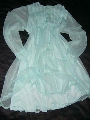 VTG 60s ST Michael Double Layer Sheer Nylon Nightie Babydoll Frothy Slip 42-44""