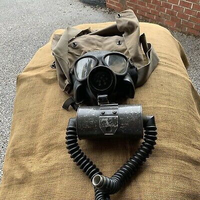 WWII Navy Mark IV Gas Mask with Carrying Bag Original