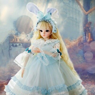 "kids 24"" 1/3 BJD Doll Handmade Dolls Free Clothes Shoes Makeup Girls Xmas Gift"