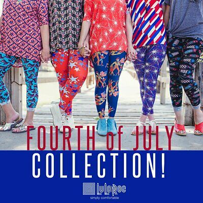 LuLaRoe AMERICANA July MYSTERY Leggings Kids S/M, L/XL Tween OS TC TC2