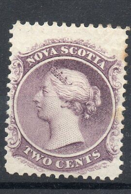 Canada/Nova Scotia 1860 Queen Victoria Sc 9 Very Lightly Mounted Mint