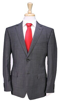 25fbb20a $895 HUGO BOSS Jewels/Linus Men's Two Button Wool Suit Dark Blue Size 38 S.